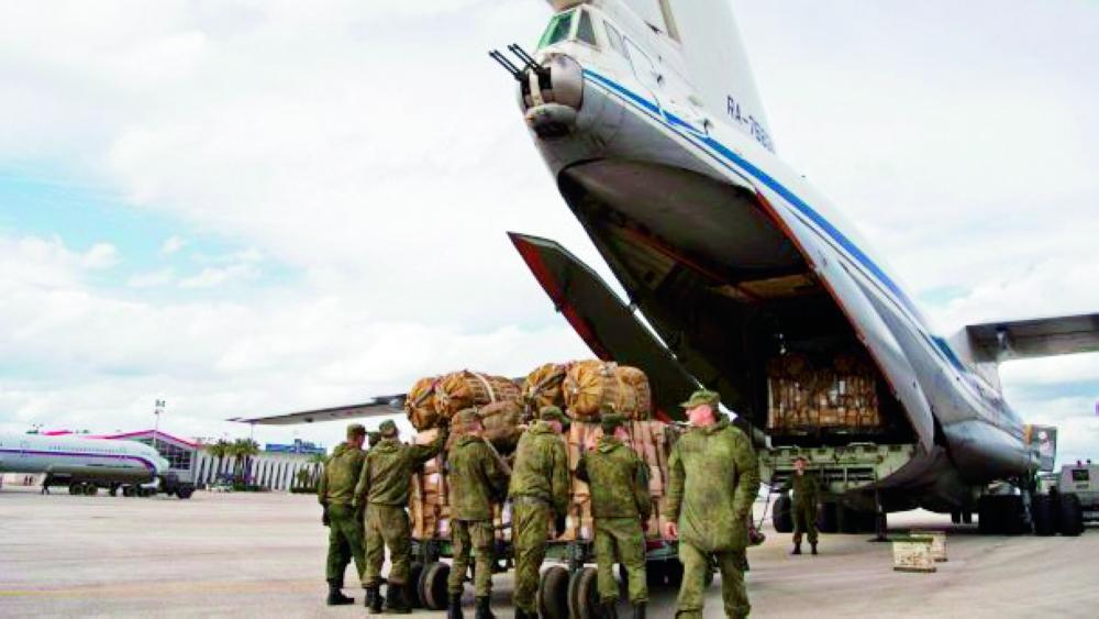 قوات روسية تغادر الأراضي السورية. (أ.ف.ب)